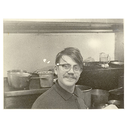 Erich '60s kitchen smiling