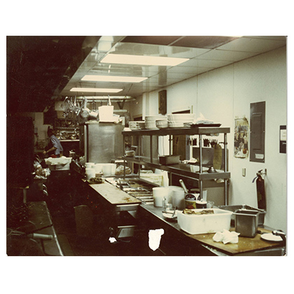 kitchen facing line probably '70s